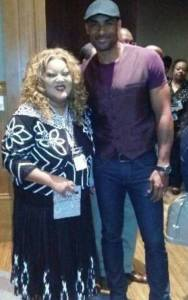 Ms. Caddie with Actor  Boris Kodjoe.