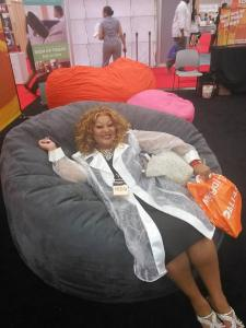 Ms. Caddie enjoying herself doing this year's Megafest